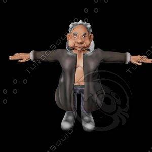 frank cartoon 3d model