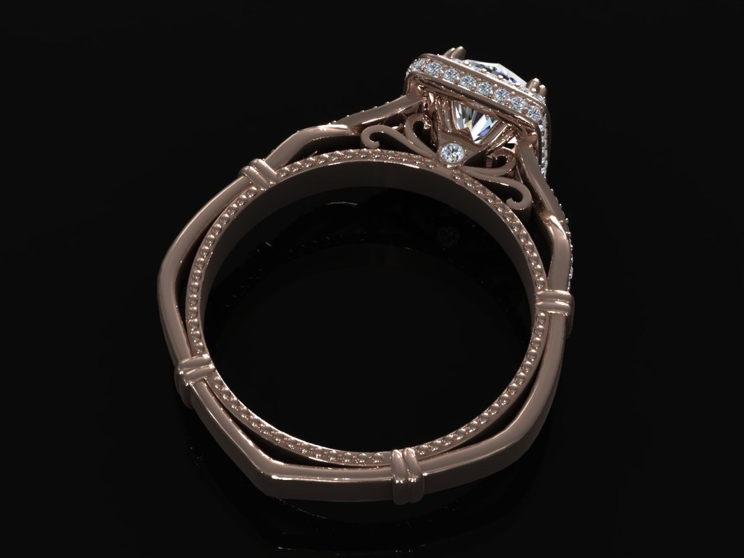 3ds max diamond ring