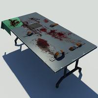 3d torture table model