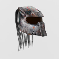 racing predator helmet 3d model