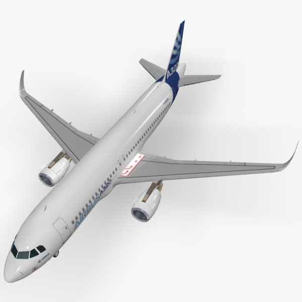 3d sharkleted a320neo house livery model