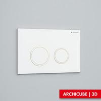 geberit flush panel 3d fbx