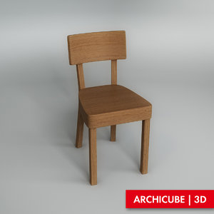 wooden chair obj