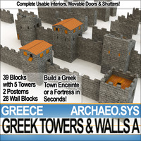Ancient Greek Towers Walls A