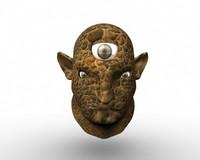 3 eye troll head
