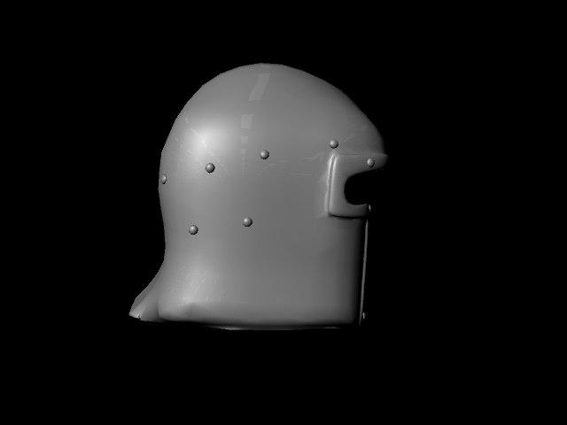 free medieval helmet 3d model