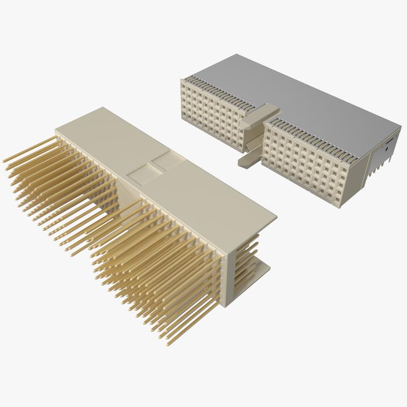 3d circuit board connectors model