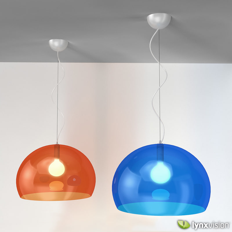3d model fl y pendant lamp