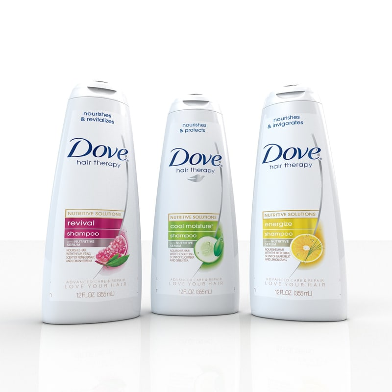 3d model of dove shampoo
