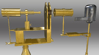 horizontal microscope 3d model