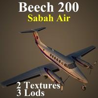 beech sax 3d model