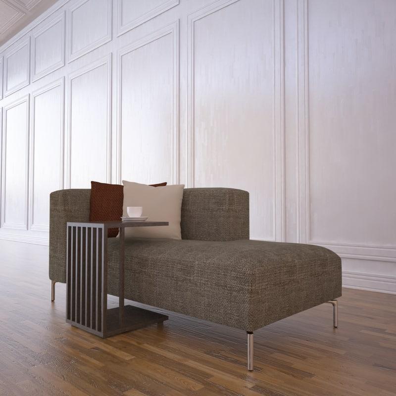 annaba chaise table 3d max