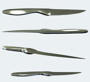 3d model knife metal