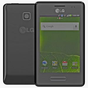 lg optimus l3 ii 3d model