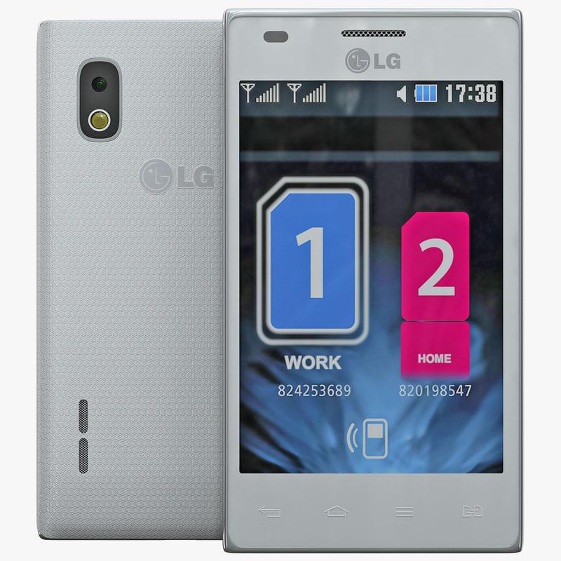 3d model lg optimus l5 dual