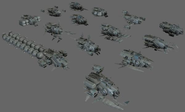 3d 3ds ship modular