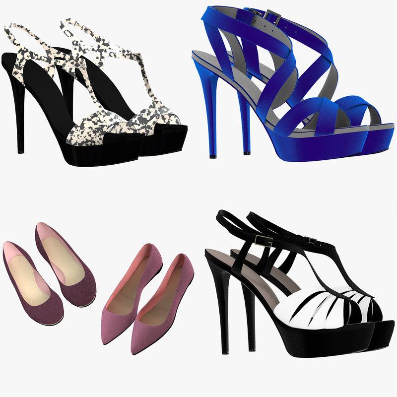 female shoes 3d model