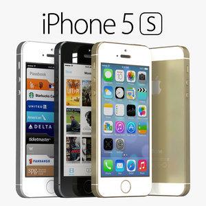 apple iphone 5s gray 3d max