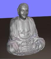3d model buddha statue