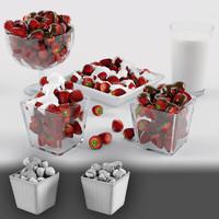 3d model strawberry berry