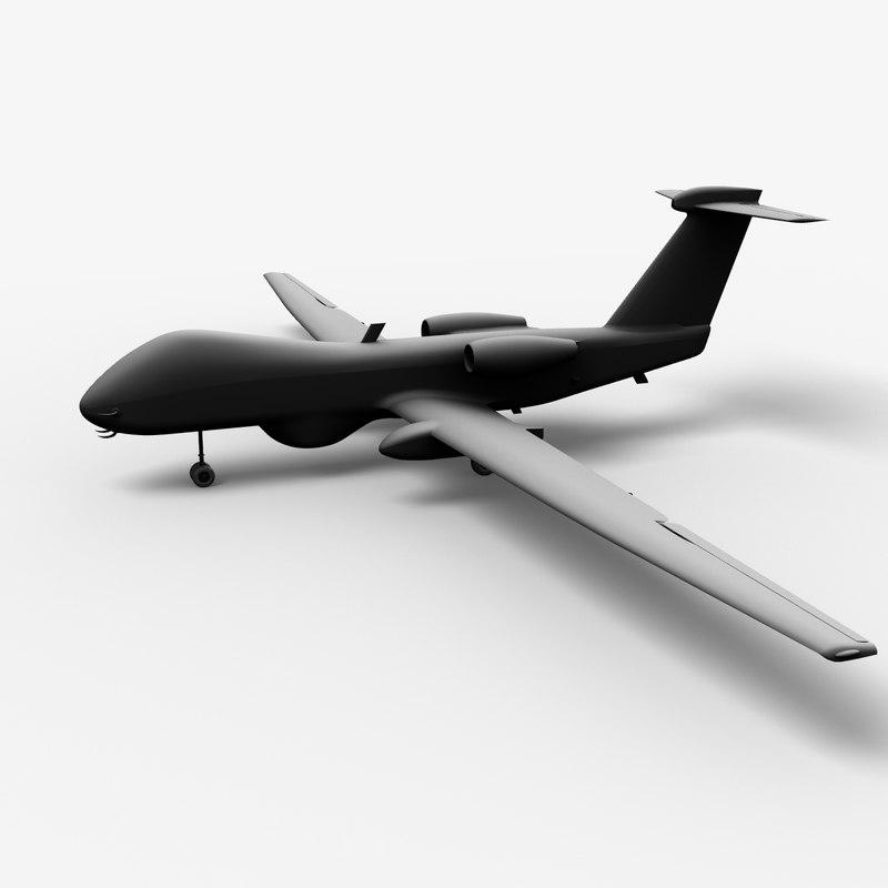 cassidian talarion uav drone 3d model