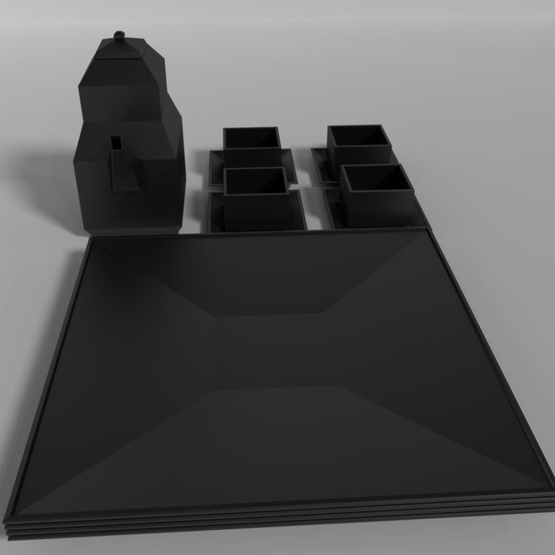 free modern set 3d model
