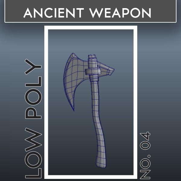ancient weapons 04 3d 3ds