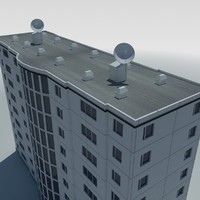 low poly condo multistorey building 1