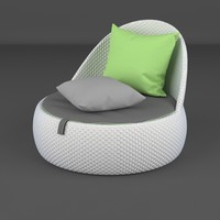 3d model lounge furniture chair dala