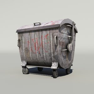3d garbage container modeled