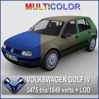 obj multicolor volkswagen golf -
