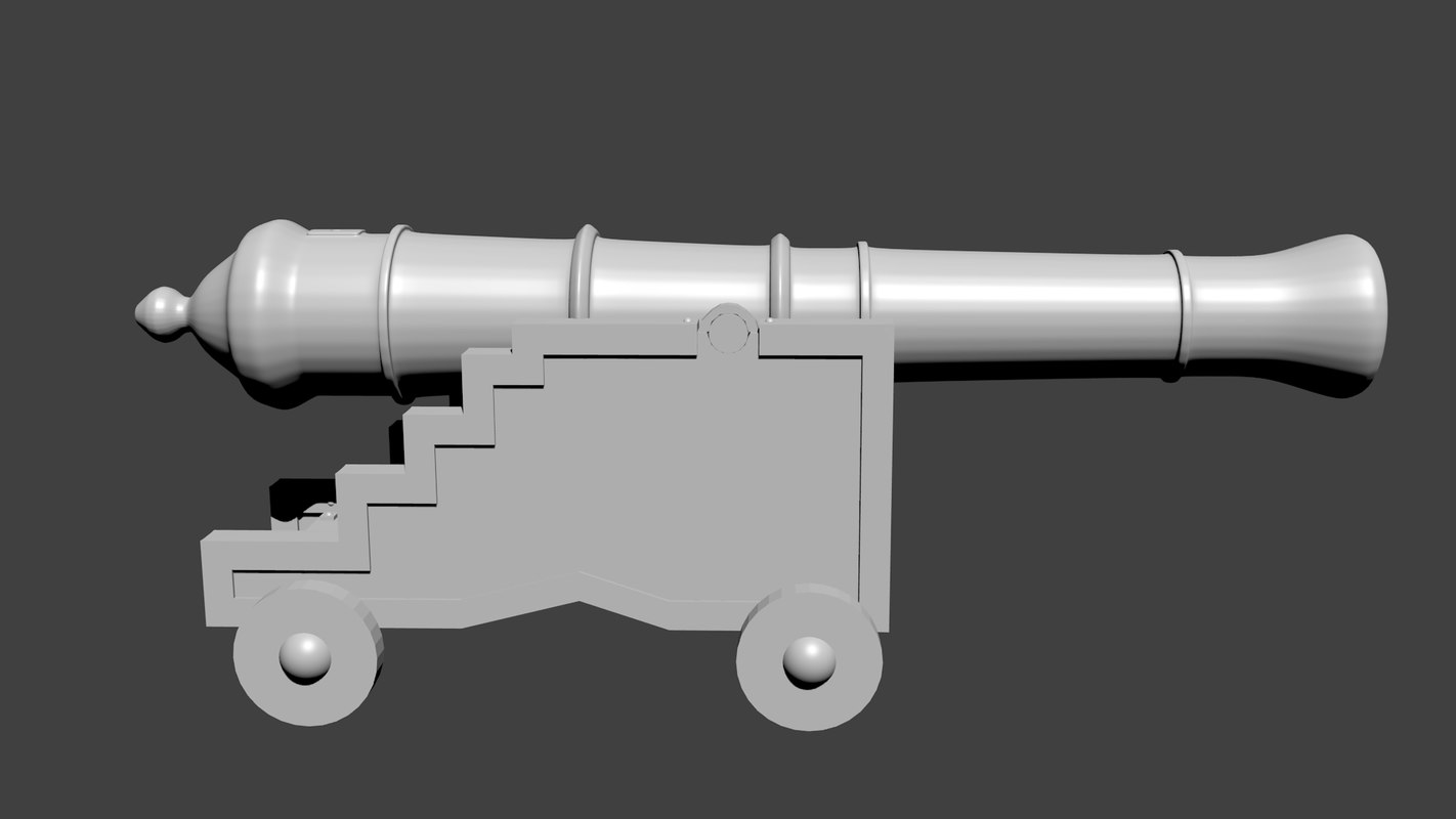 3d model cannon 16th century