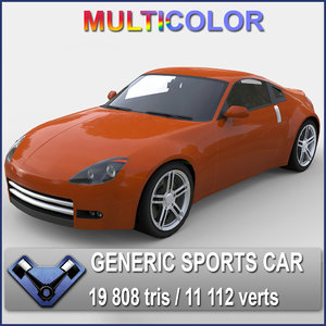 3d model generic sports car katamori