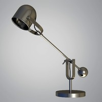 3d lamp vintage table model