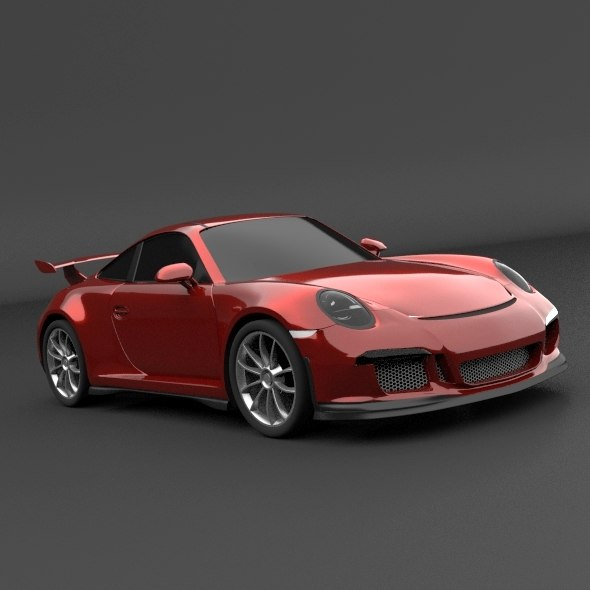 porsche carrera 911 gt3 3d fbx