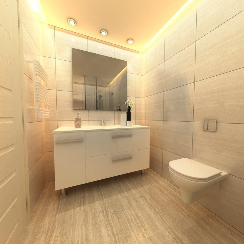 maya bathroom scene