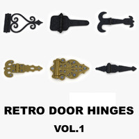 Retro door (gate) hinges collection vol1