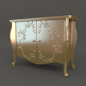 commode classic style chest obj