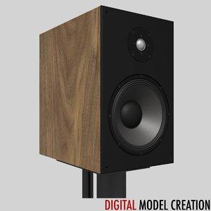 stereo loudspeaker stand 3d obj