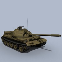 3ds max soviet t-55 tank