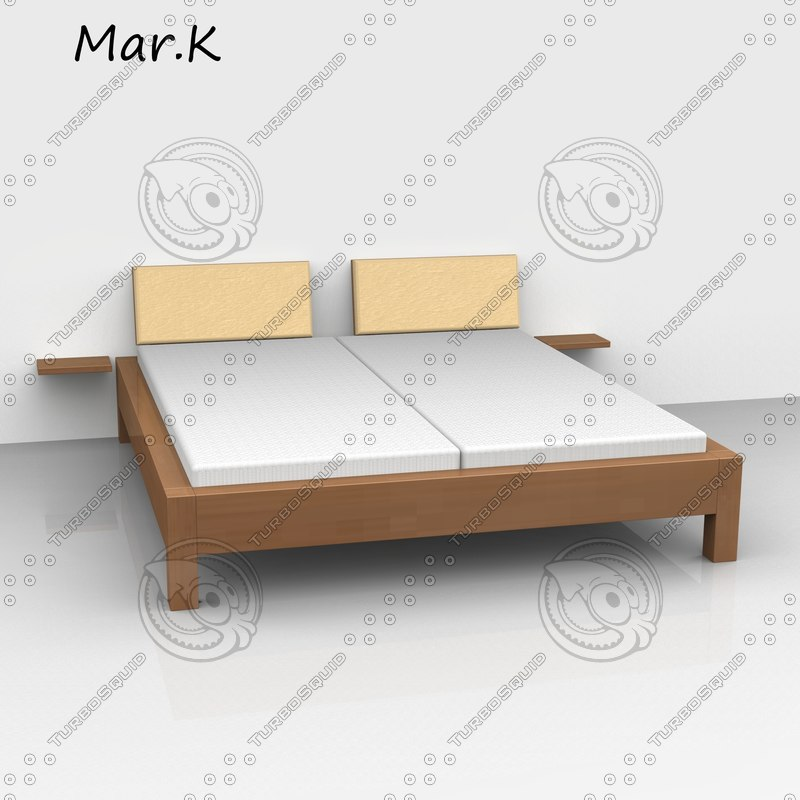 3ds max morgan double bed