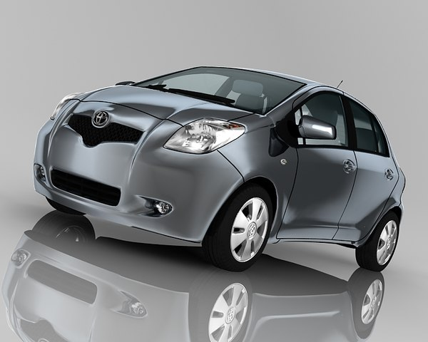 toyota yaris 5-door 3d model