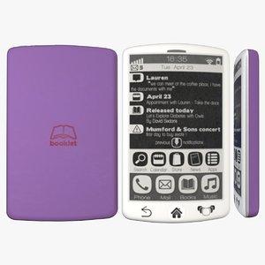 3d e-ink smartphone model