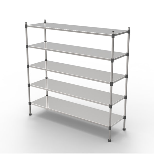 3d model of shelves