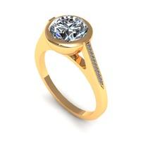 Engagement Ring Halo Sid Stone