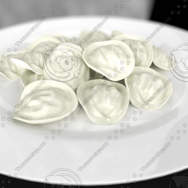 3ds max russian pelmeni plate ravioli