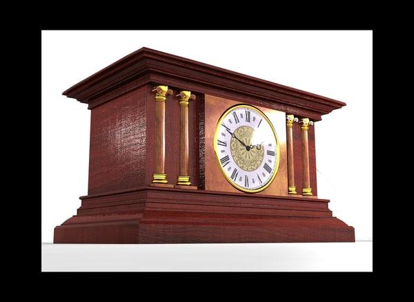 3d mantel clock