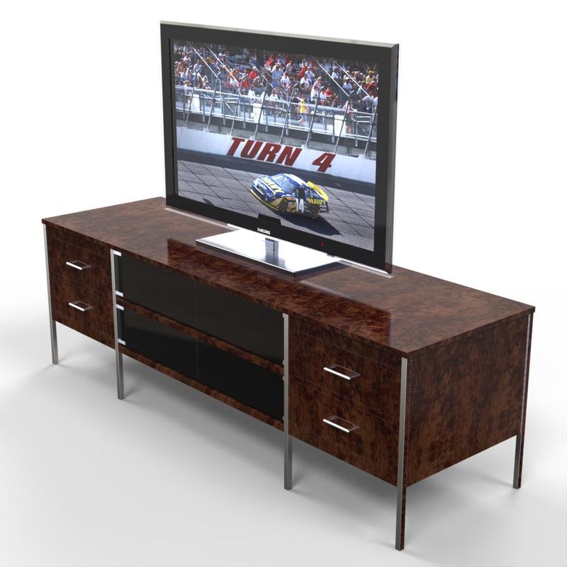 entertainment unit tv 3d model