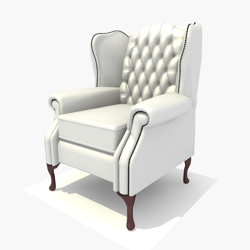 seater classic chair texturing 3d 3ds