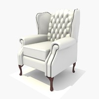 seater classic chair texturing 3d c4d